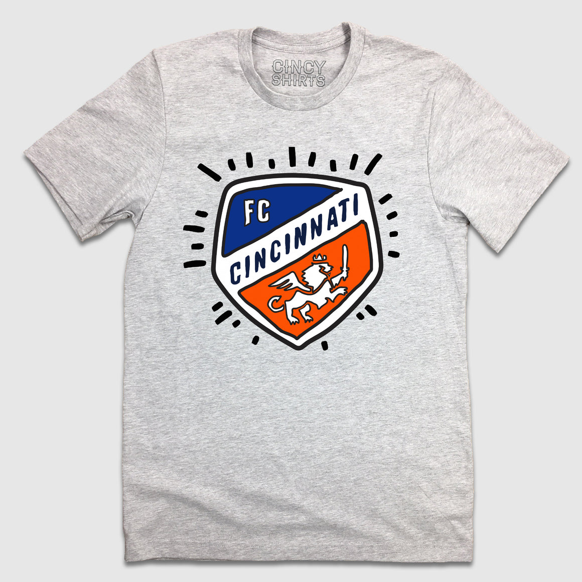 Hand Drawn FC Cincinnati Shield Logo - Cincy Shirts