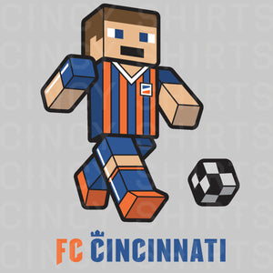 FC Cincinnati Block Player - Youth Sizes