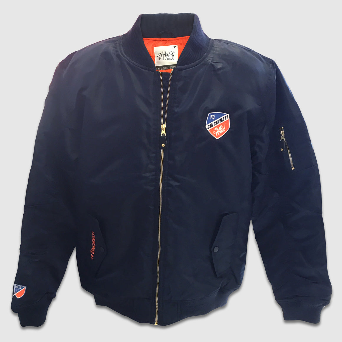 FC Cincinnati Zip-Up Bomber Jacket - Cincy Shirts