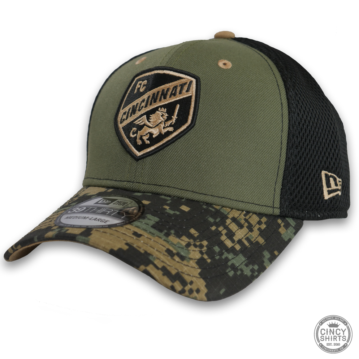 FC Cincinnati Green & Black Camo Hat