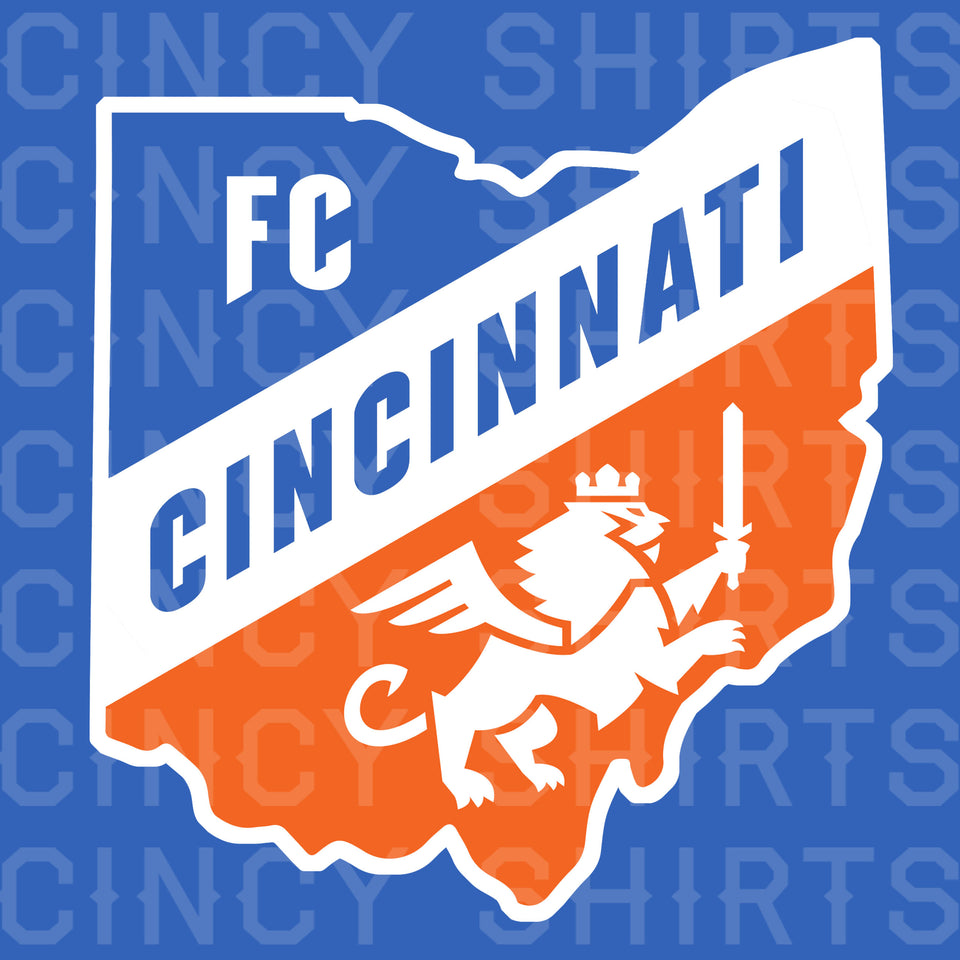 FC Cincinnati Ohio Logo - Youth Sizes - Cincy Shirts