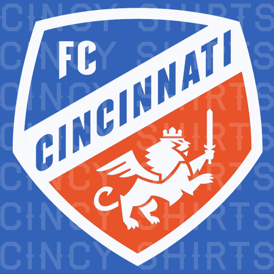Official FC Cincinnati Royal Blue Primary Crest Logo - Cincy Shirts