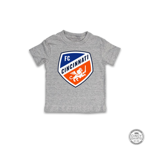 Official FC Cincinnati Gray Primary Crest Logo - Youth Sizes
