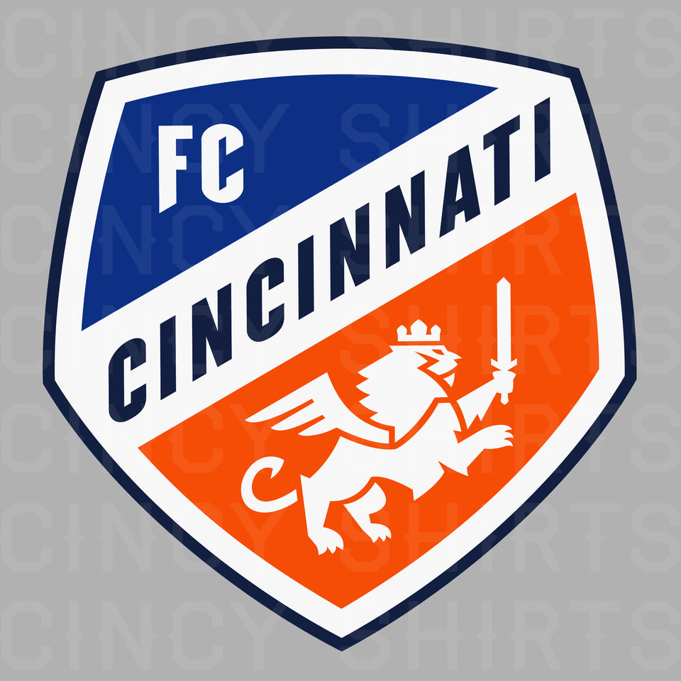 Official FC Cincinnati Gray Primary Crest Logo - Youth Sizes - Cincy Shirts