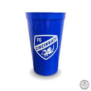 FC Cincinnati Plastic Cup - Royal Blue - Cincy Shirts