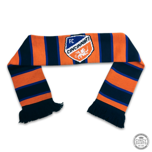 FC Cincinnati Orange Split Bar - Youth Scarf - Cincy Shirts
