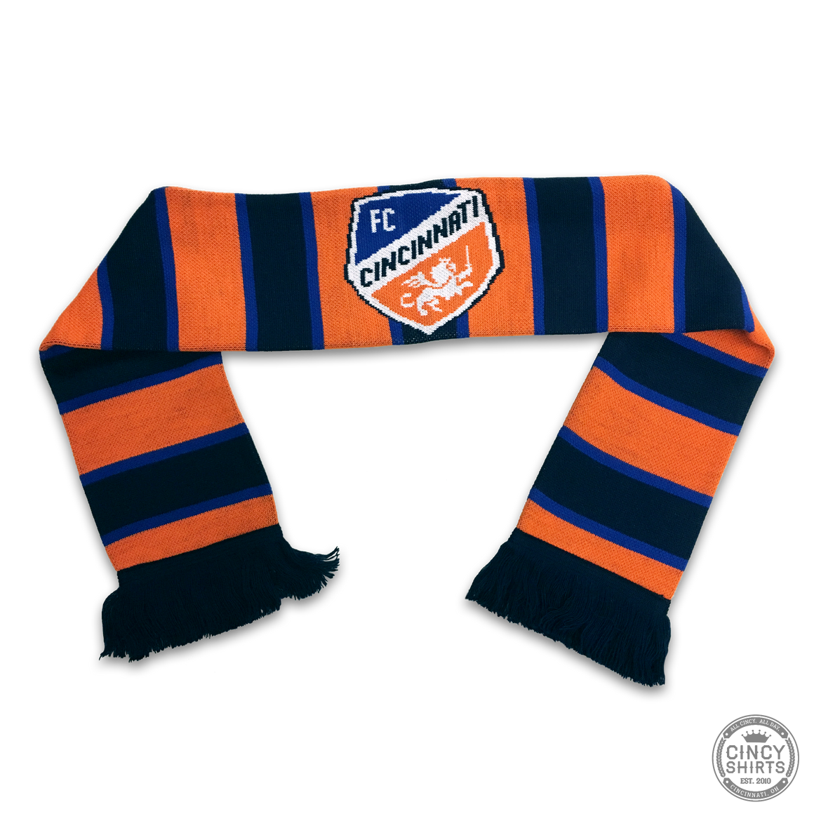 FC Cincinnati Orange Split Bar - Youth Scarf