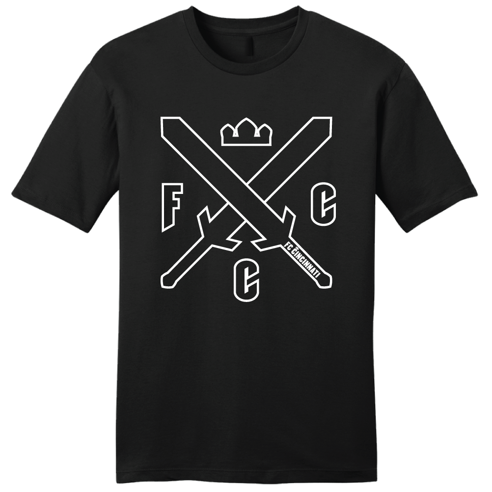 FC Cincinnati Swords and Crowns Tee