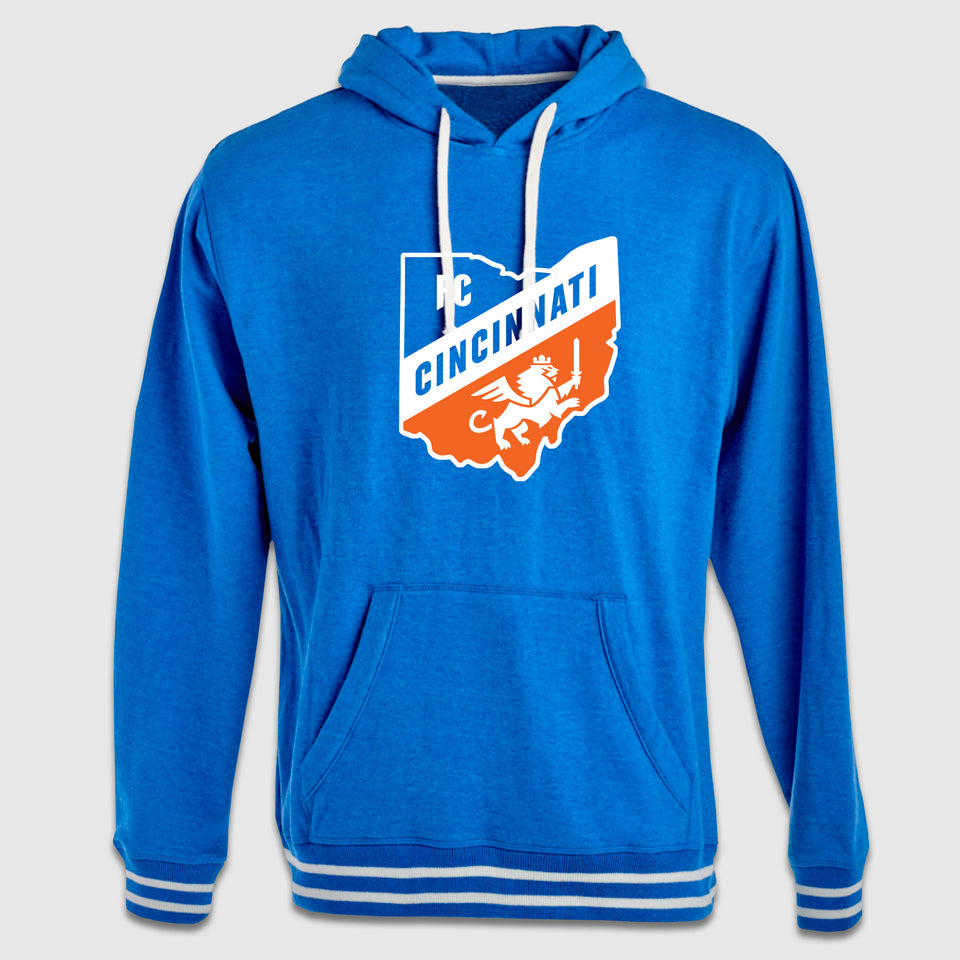 FC Cincinnati Ohio Shield Hooded Relay Sweatshirt - Cincy Shirts