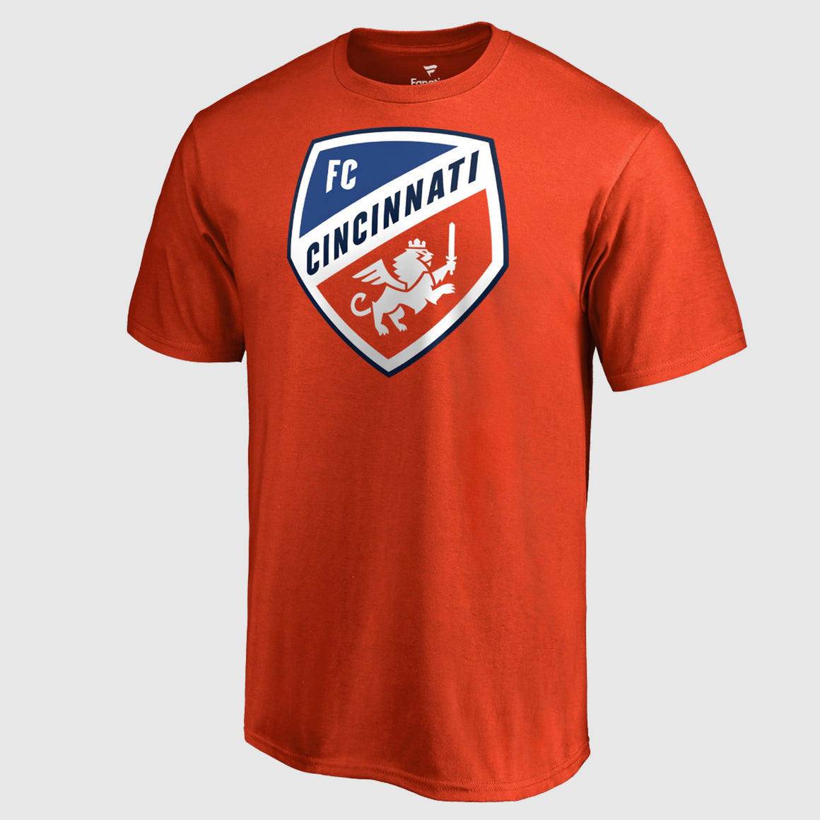 Official FC Cincinnati Dark Orange Primary Crest Logo T-shirt