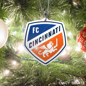 Official FC Cincinnati Crest Logo Holiday Ornament - Cincy Shirts