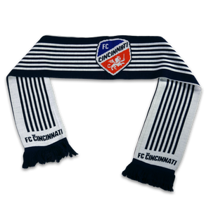 Official FC Cincinnati 7 Stripes MLS Scarf