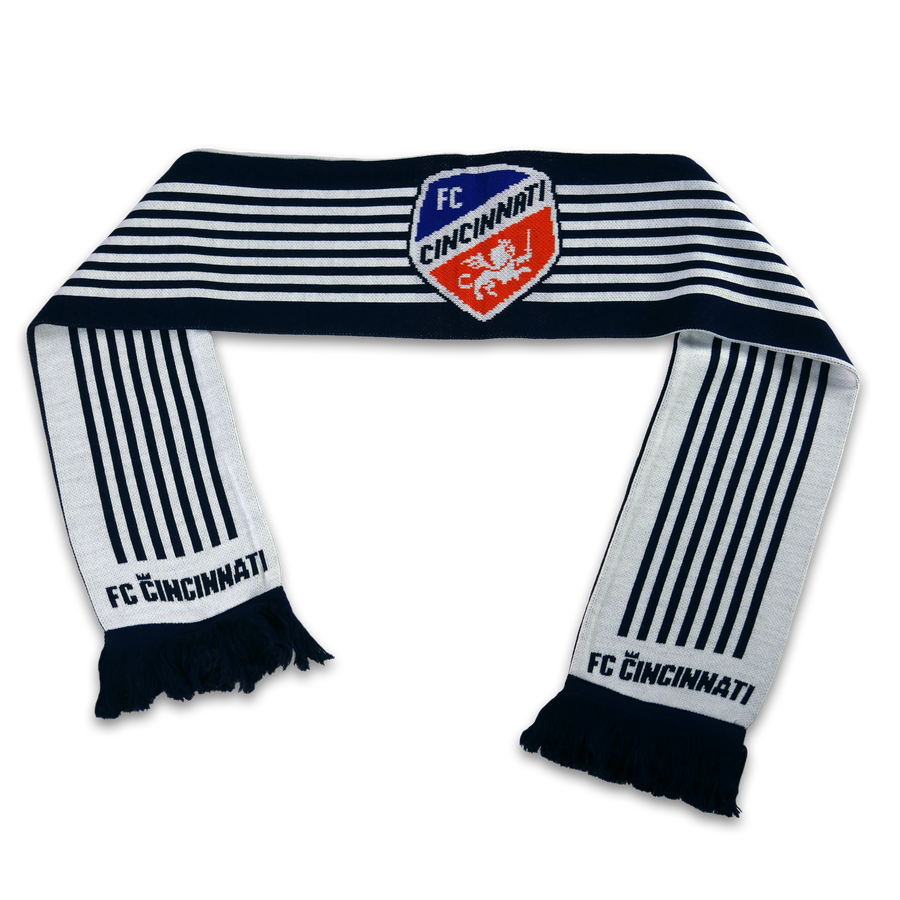 Official FC Cincinnati 7 Stripes MLS Scarf - Cincy Shirts