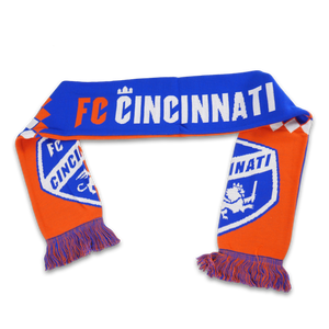 FC Cincinnati Diamond Split Crest Scarf - Cincy Shirts