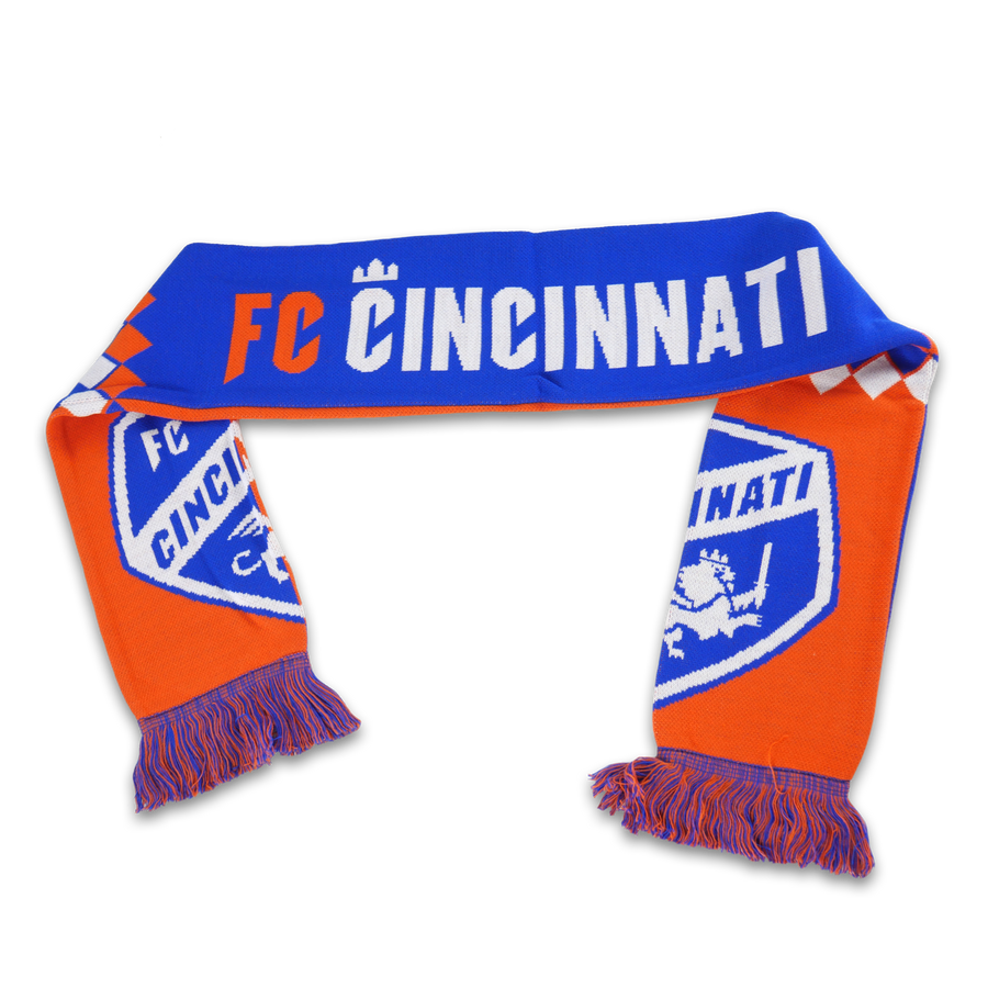 FC Cincinnati Diamond Split Crest Scarf