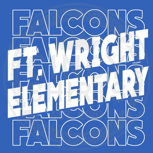 Ft. Wright Falcons - Stacked Text Logo - Cincy Shirts