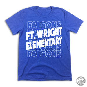 Ft. Wright Falcons - Stacked Text Logo