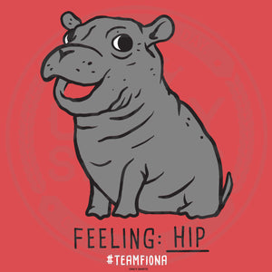 Feeling Hip - Fiona The Hippo - Youth Sizes - Cincy Shirts