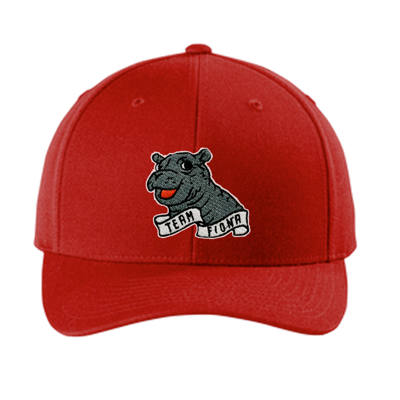 Fiona Red Curved Bill Snapback Hat - Cincy Shirts