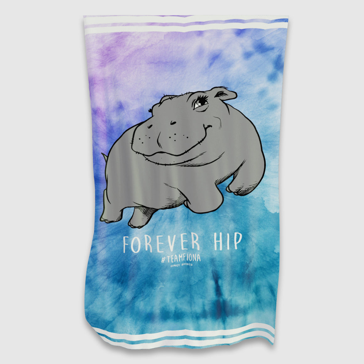 """Forever Hip"" #TeamFiona Tie-Dye Beach Towel - Cincy Shirts"