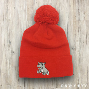 Red Team Fiona Pom Beanie