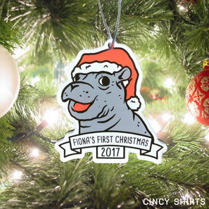 Fiona's First Christmas Ornament 2017 - Cincy Shirts