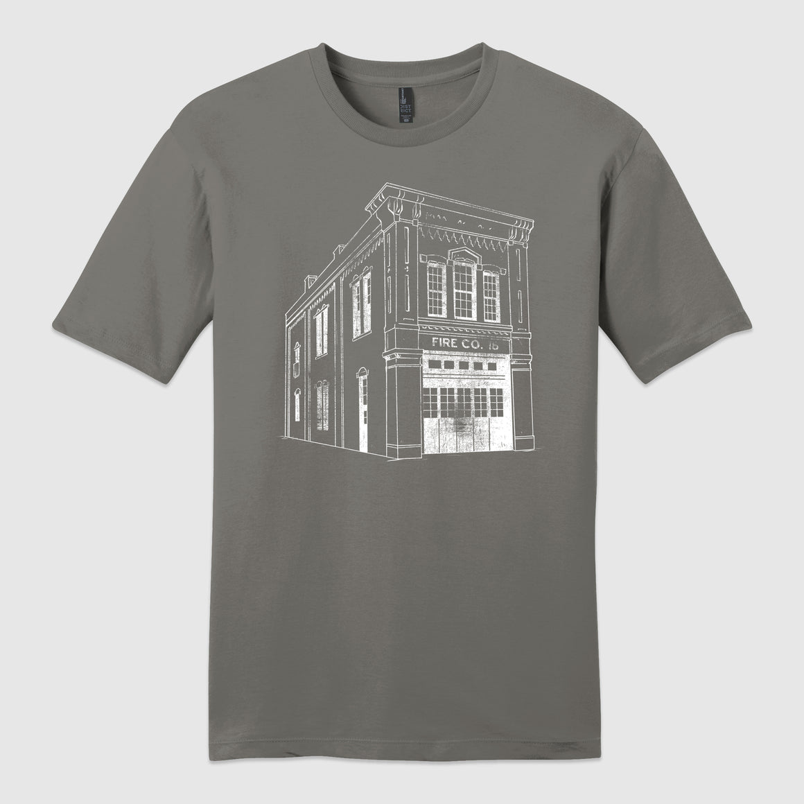 Fireside Pizza building T-shirt