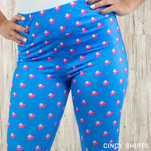 Flying Pig Capri Leggings