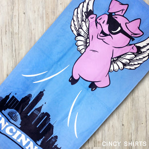 Flying Pig - Beach Towel