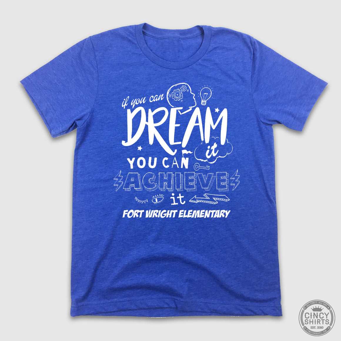 Fort Wright Falcons - Dream It and Achieve It - Adult & Youth Sizes - Cincy Shirts