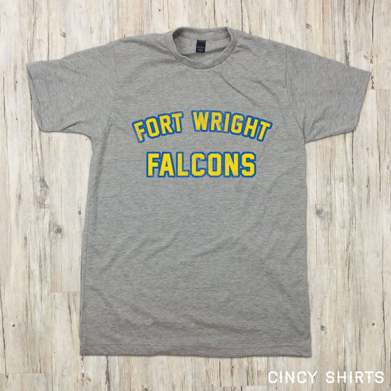 Distressed Fort Wright Falcons Text