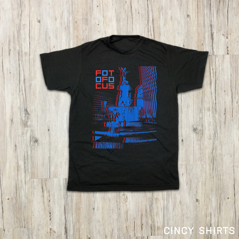 Fotofocus 3D Fountain - Black Youth Garments - Cincy Shirts