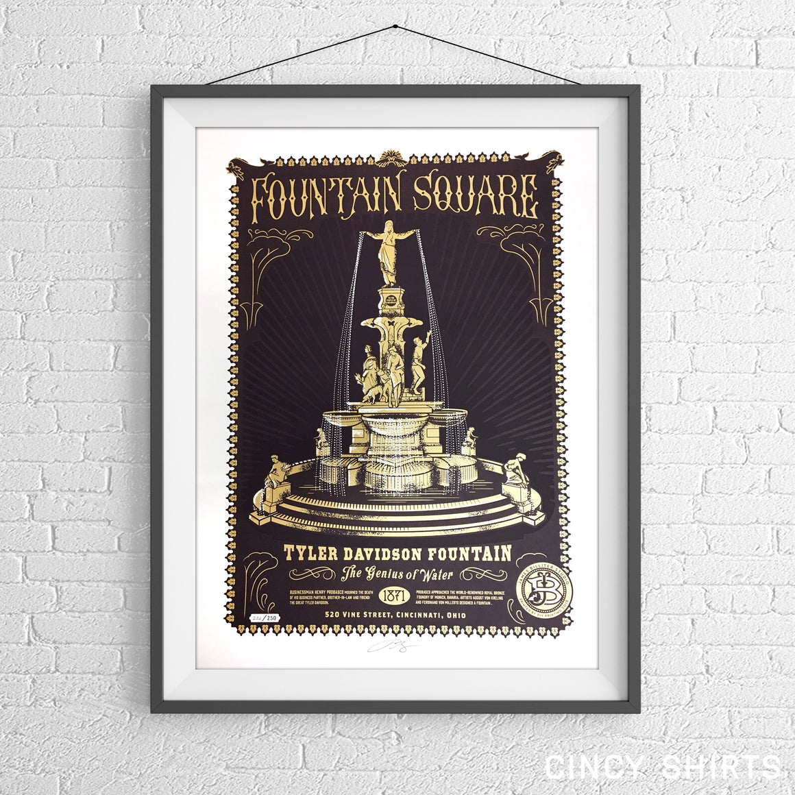 Fountain Square - Limited Edition Art Print - Cincy Shirts