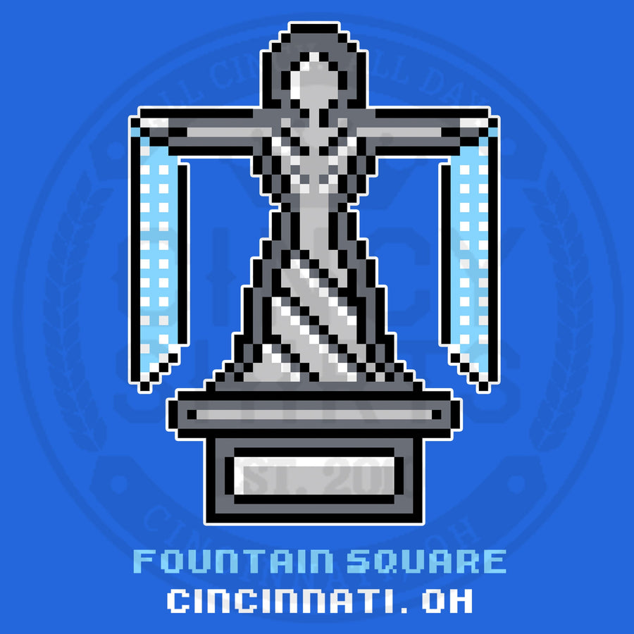 8-Bit Fountain Square - Cincy Shirts