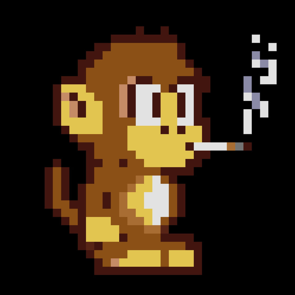 8-Bit Sam The Monkey - Cincy Shirts