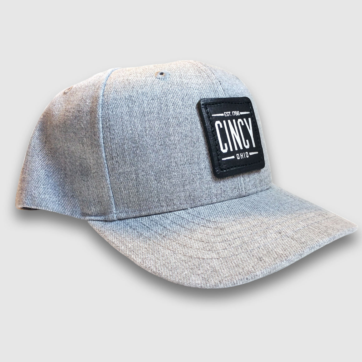 "Grey ""Cincy"" Patch Hat"