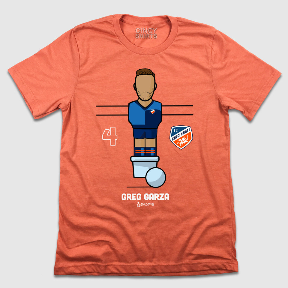 Official Greg Garza Foosball Player Tee - Cincy Shirts