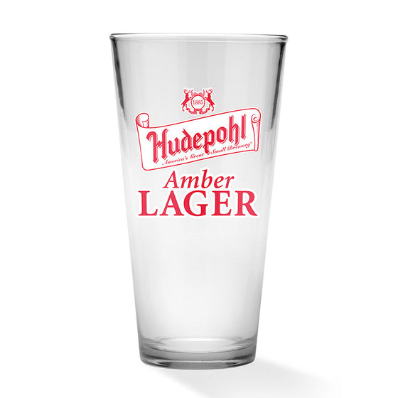 Hudepohl Amber Lager Pint Glass