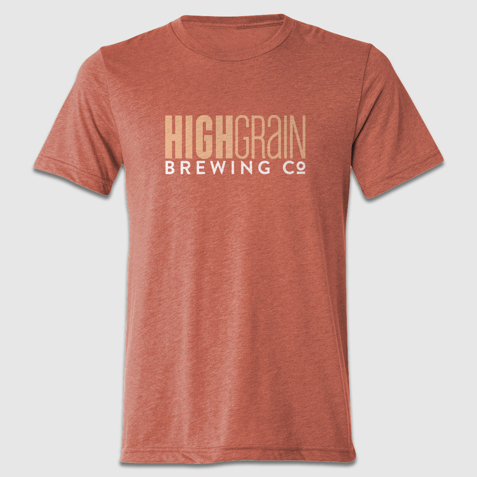 High Grain Text Front & Back Tee Design - Cincy Shirts