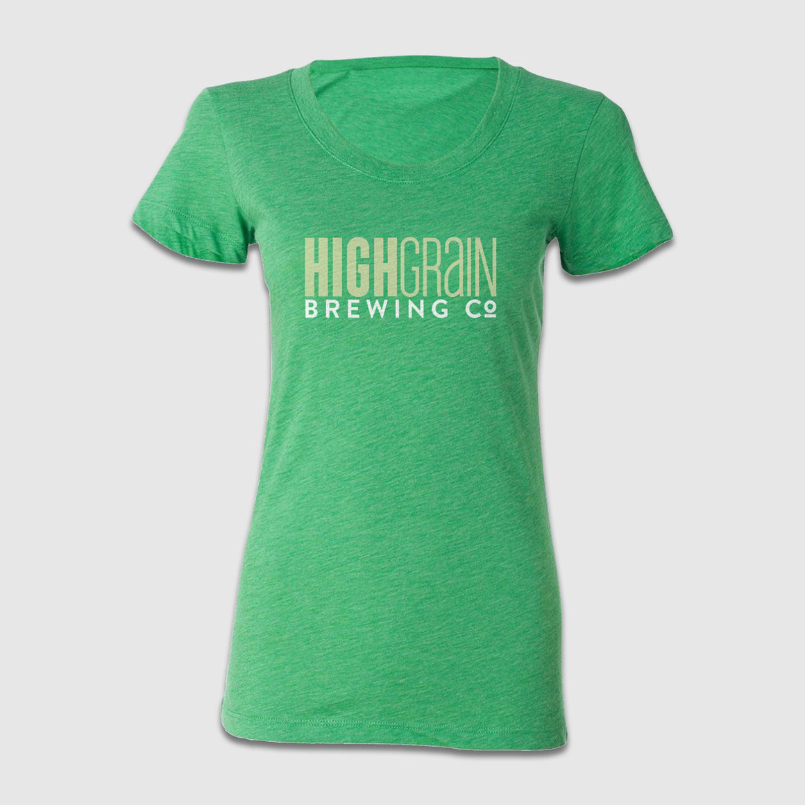 Women's Scoop Neck High Grain Text Front & Back Design - Cincy Shirts