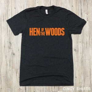 Hen Of The Woods Text logo image