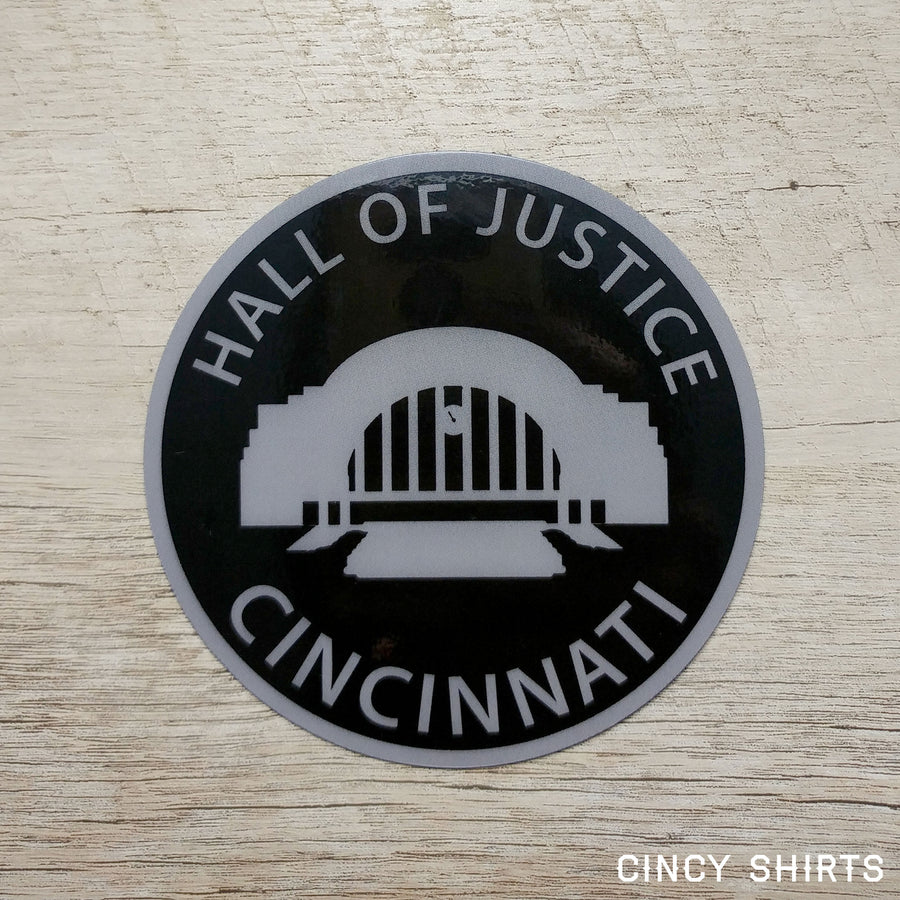 Hall of Justice Union Terminal Car Magnet