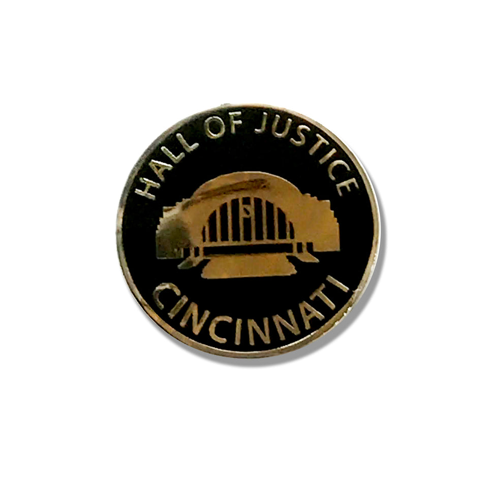 Hall of Justice Union Terminal - Enamel Pin - Cincy Shirts