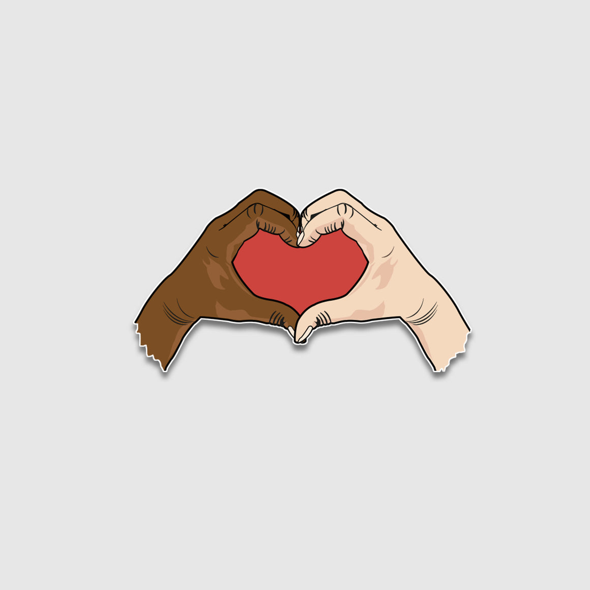Heart Hands Sticker - Cincy Shirts