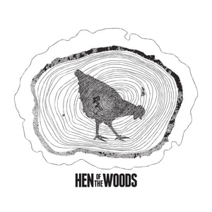 Hen Of The Woods Logo image black on white