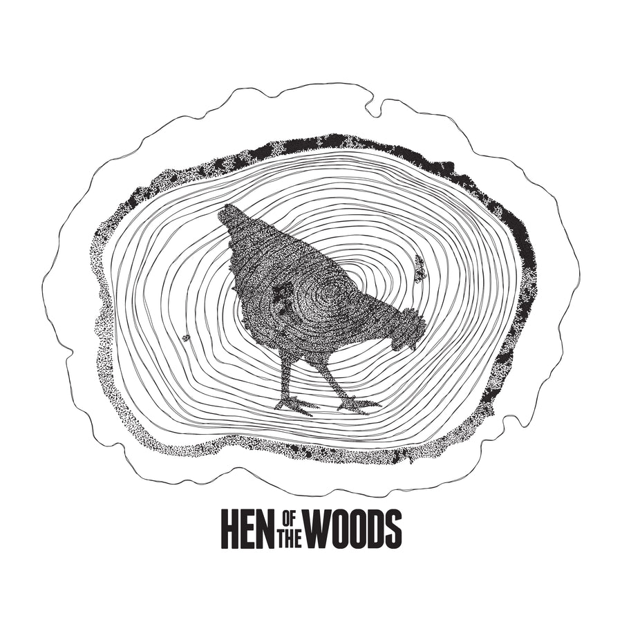 Hen Of The Woods Large Logo T-shirt