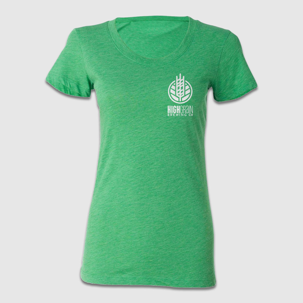 Women's Scoop Neck High Grain Pocket Logo Front & Back Design - Cincy Shirts