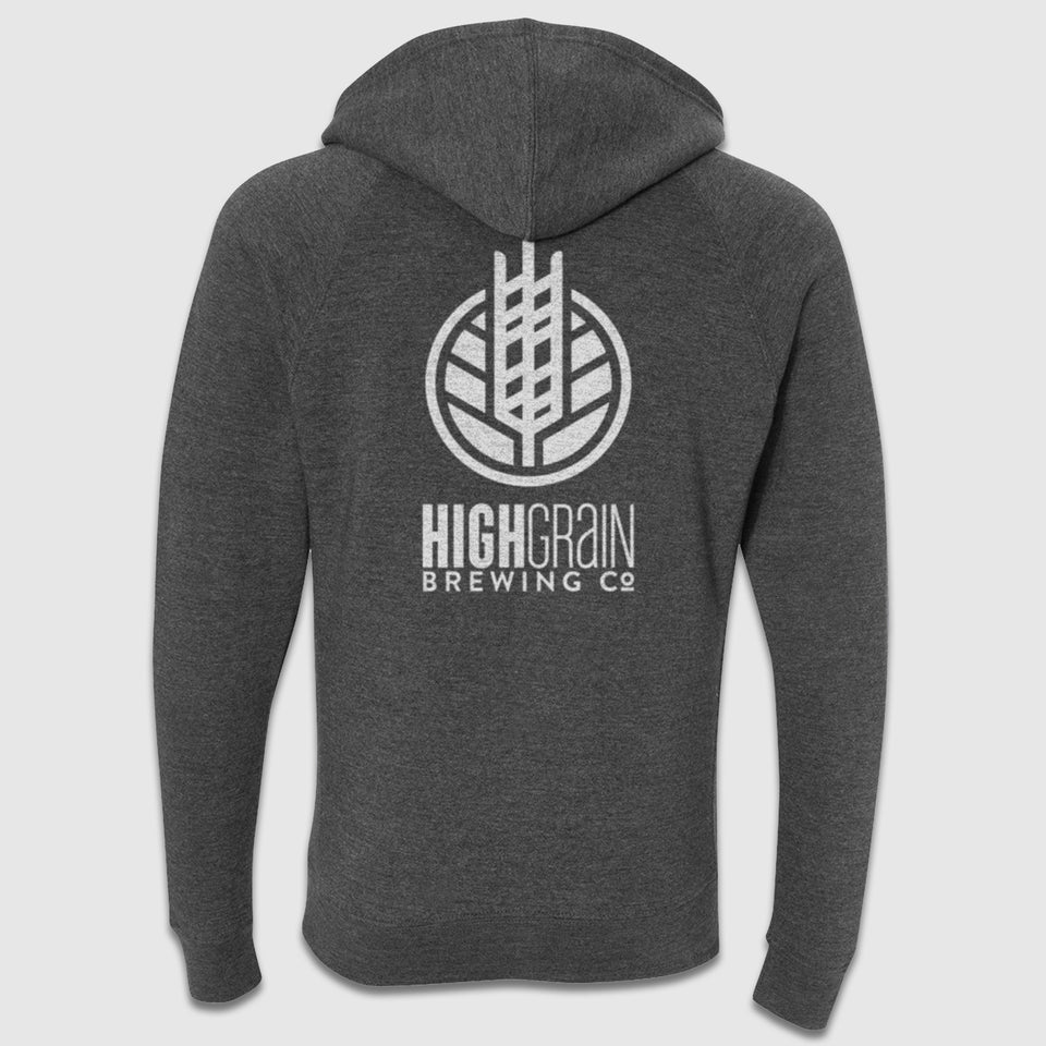 HighGrain Front & Back Logo Zip-Up Hoodie - Cincy Shirts