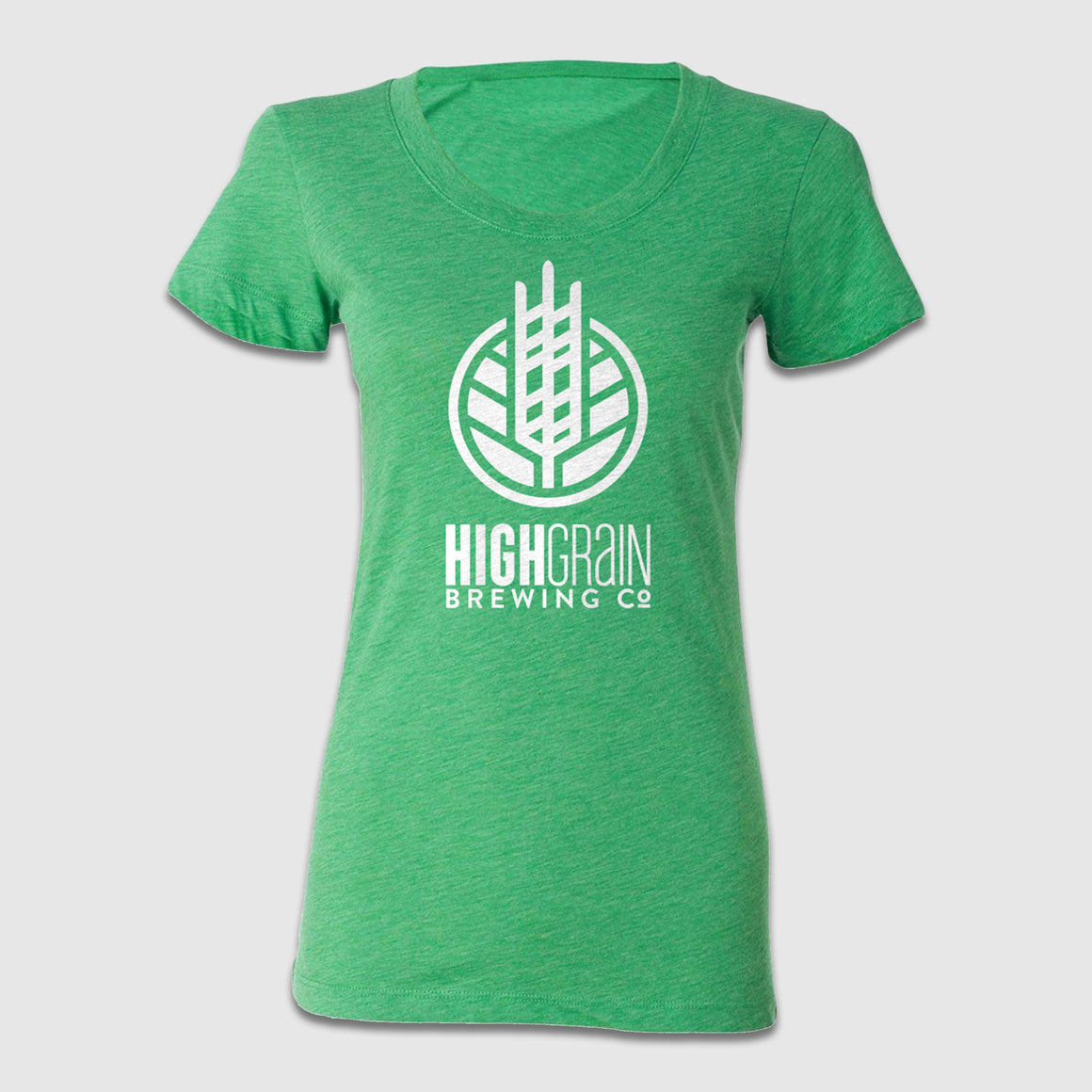 Women's Scoop Neck High Grain Full Emblem Woodmark Tees - Cincy Shirts