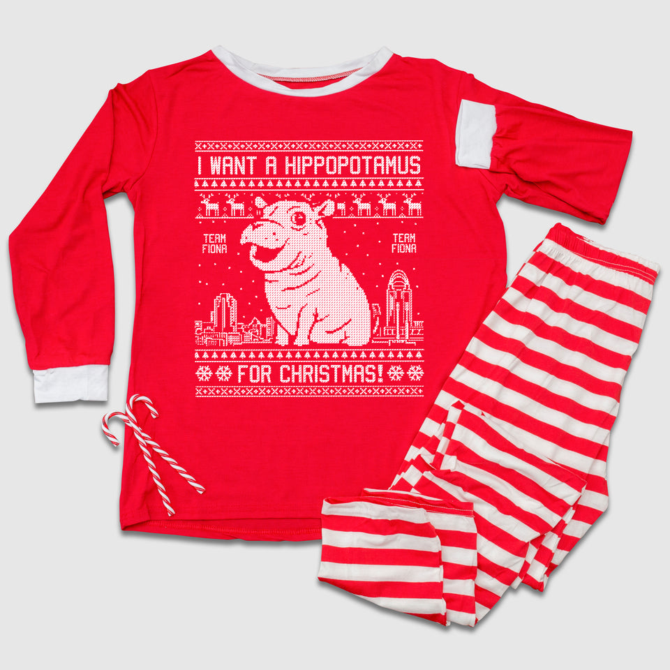I Want A Hippopotamus For Christmas Family Pajama Set - Cincy Shirts